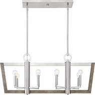 Designers Fountain 93738-SP Westend Contemporary Satin Platinum Island Light Fixture