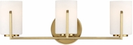 Designers Fountain 93903-BG Elara Brushed Gold 3-Light Vanity Light