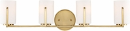 Designers Fountain 93904-BG Elara Brushed Gold 4-Light Bath Lighting Fixture