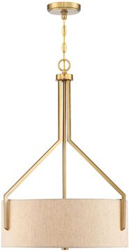Designers Fountain 93931-BG Elara Brushed Gold Drum Pendant Light Fixture