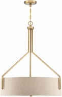 Designers Fountain 93932-BG Elara Brushed Gold Drum Pendant Lighting Fixture