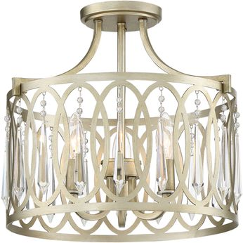 Designers Fountain 94411-SG Hutton Sterling Gold Flush Mount Lighting