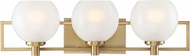 Designers Fountain 94503-BG Cowen Modern Brushed Gold 3-Light Bathroom Sconce