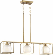 Designers Fountain 94538-BG Cowen Modern Brushed Gold Island Lighting