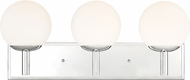 Designers Fountain 95103-CH Kelvin Contemporary Chrome 3-Light Vanity Lighting Fixture