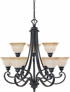 Designers Fountain 96189-NI Barcelona Natural Iron Hanging Chandelier