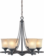 Designers Fountain 97386-WSD Austin Weathered Saddle Chandelier Light