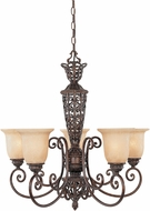 Designers Fountain 97585-BU Amherst Burnt Umber Chandelier Lamp