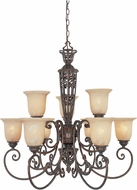 Designers Fountain 97589-BU Amherst Burnt Umber Ceiling Chandelier