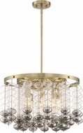Designers Fountain D208C-8CH-BG Villa Rose Modern Brushed Gold Hanging Lamp