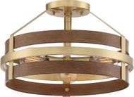 Designers Fountain D211M-SF-BBS Atwood Contemporary Brushed Brass Overhead Lighting
