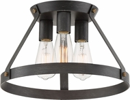Designers Fountain D212M-SF-WP Wicker Park Weathered Pewter Flush Mount Light Fixture