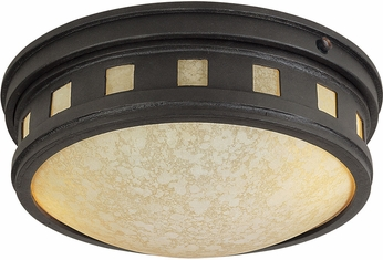 Designers Fountain ES2375-AM-ORB Sedona Oil Rubbed Bronze Fluorescent Outdoor Flush Mount Ceiling Light Fixture