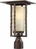 Designers Fountain FL31936-FBZ Parkview Flemish Bronze Fluorescent Exterior Lighting Post Light