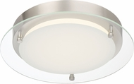 Designers Fountain LED1294-PN Deco Edge Contemporary Polished Nickel LED 11.5 Home Ceiling Lighting