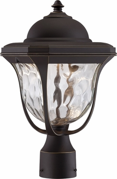 Designers Fountain LED21936-ABP Marquette Aged Bronze Patina LED Exterior Lamp Post Light Fixture