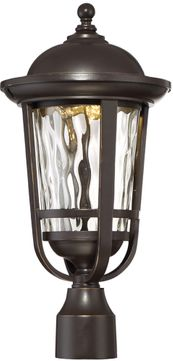 Designers Fountain LED34436-ABP Westbrooke Traditional Aged Patina Bronze LED Exterior Post Light Fixture