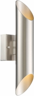 Designers Fountain LED6092-SP Lucienne Contemporary Satin Platinum LED Exterior Lighting Wall Sconce