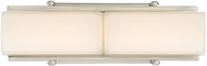 Designers Fountain LED69302-SP Rowan Contemporary Satin Platinum LED 15  Bathroom Sconce Lighting