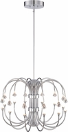 Designers Fountain LED859812-CH Galaxy Chrome LED Chandelier Lighting
