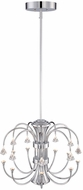 Designers Fountain LED85989-CH Galaxy Contemporary Chrome LED Mini Ceiling Chandelier