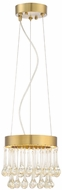 Designers Fountain LED88130-LXG Lucienne Modern Luxor Gold LED Mini Pendant Lamp