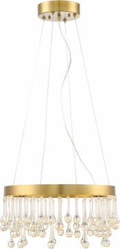 Designers Fountain LED88132-LXG Lucienne Contemporary Luxor Gold LED 19 Ceiling Light Pendant