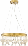 Designers Fountain LED88134-LXG Lucienne Modern Luxor Gold LED 24  Ceiling Pendant Light