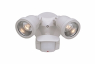 Designers Fountain PH218S-06 Area & Security Contemporary White Halogen Outdoor Motion Detector Flood Light Fixture