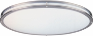 Designers Fountain S117OMCFL-SN Oval Satin Nickel Fluorescent 14  Flush Ceiling Light Fixture