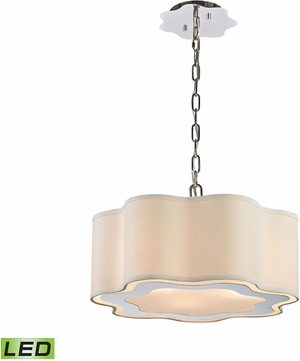 ELK Home 1140-018-LED Villoy Polished Stainless Steel / Polished Nickel LED Pendant Lighting