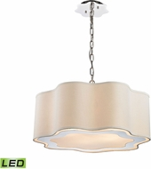 ELK Home 1140-019-LED Villoy Polished Stainless Steel / Polished Nickel LED Pendant Light
