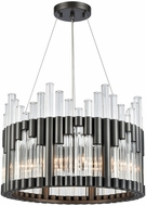 Dimond 1140-066 Throttle Modern Dark Graphite Drum Lighting Pendant