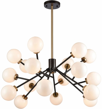 ELK Home 1140-067 Levity Contemporary Satin Brass and Oiled Bronze Halogen Chandelier Light