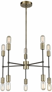 ELK Home 1141-027 Up Down Century Modern Antique Brass Oil Rubbed Bronze Mini Chandelier Lamp