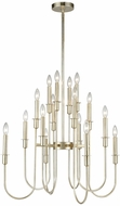 Dimond 1141-028 Waxley Contemporary Antique Silver Leaf Chandelier Light