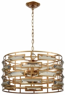 Dimond 1141-031 Metro Gold Leaf Clear Crystal Drum Pendant Light
