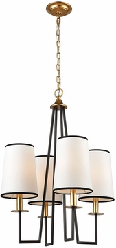 ELK Home 1141-060 On Strand Modern Oiled Bronze With Gold Leaf Mini Chandelier Lighting