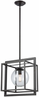 ELK Home 1141-064 Beam Cage Modern Oil Rubbed Bronze With Clear Glass Pendant Light Fixture
