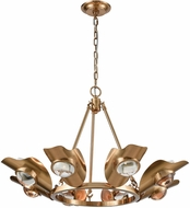 ELK Home 1141-068 Spectacle Modern Aged Brass With Clear Crystal Hanging Chandelier