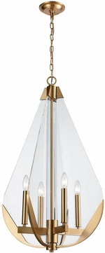 ELK Home 1141-069 Vapor Cone Contemporary Aged Brass With Clear Acrylic Mini Chandelier Light