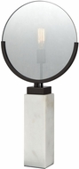 Dimond 1141-070 Radio Row Modern Oiled Bronze With Plated Smoke Glass And White Marble Base Table Lamp