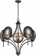 Dimond 1141-071 Cadabra Contemporary Oiled Bronze With Plated Smoke Glass Chandelier Lighting