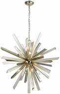 ELK Home 1141-073 Cataclysm Contemporary Silver Leaf Lighting Chandelier