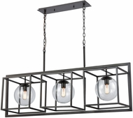 ELK Home 1141-075 Beam Cage Contemporary Oil Rubbed Bronze With Clear Glass Kitchen Island Lighting