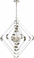 ELK Home 1141-079 Rapid Pulse Contemporary Polished Nickel With Clear Acrylic Ceiling Chandelier