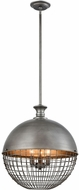 ELK Home 1141-081 Juggernaut Contemporary Brushed Slate Pendant Lighting Fixture