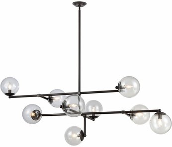 ELK Home 1141-083 Communique Contemporary Oiled Bronze With Clear Glass Chandelier Light
