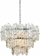 ELK Home 1141-086 Icy Reception Modern Chrome With Clear Glass Chandelier Lighting