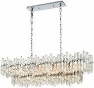 ELK Home 1141-087 Icy Reception Contemporary Chrome With Clear Glass Kitchen Island Light
